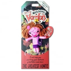 The Greatest Auntie Voodoo Keyring