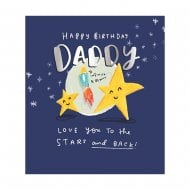 The Happy News Love You To The Moon & Back Daddy Birthday Card