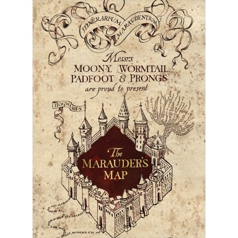 Mint Publishing The Marauders Map Card
