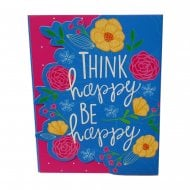 Think Happy Be Happy Pocket Notepad & Pen