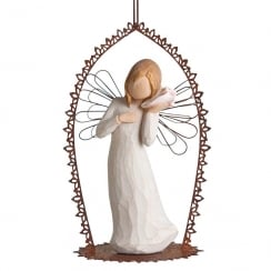 Thinking Of You Angel Trellis Hanging Ornament