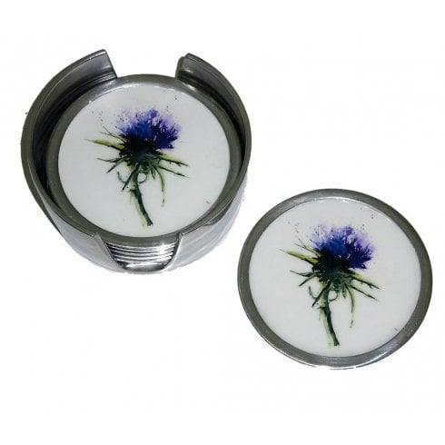 Thistle Coasters - Set Of 6 9cm
