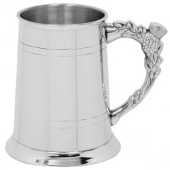 Thistle Handle Pewter Tankard 1 Pint