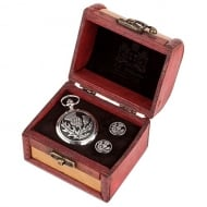 Thistle Pocket Watch In Box With Cufflinks