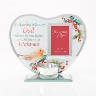 Thoughts Of You Christmas Photo Glass Tealight Holder XM8689