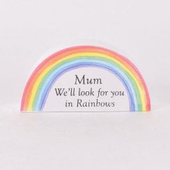 Thoughts Of You Rainbow Plaque - Mum