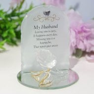 Thoughts Of You Rose Plaque - Husband