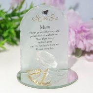 Thoughts Of You Rose Plaque - Mum