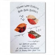 Three Wee Robins Christmas Card