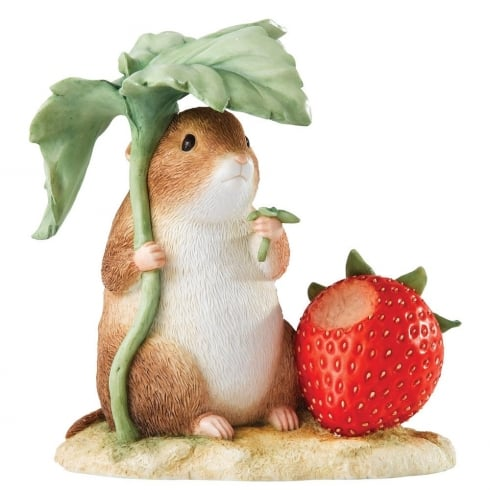 Beatrix Potter Timmy Willie With Strawberry Figurine