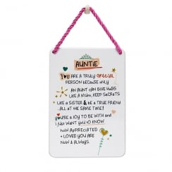 Tin Plaque Auntie