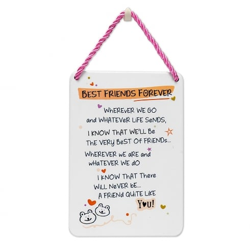 WPL Tin Plaque Best Friend Forever