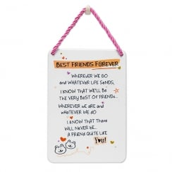 Tin Plaque Best Friend Forever