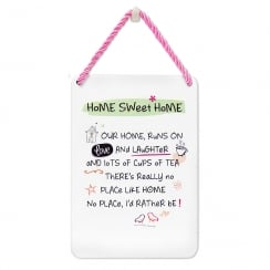 Tin Plaque Home Sweet Home
