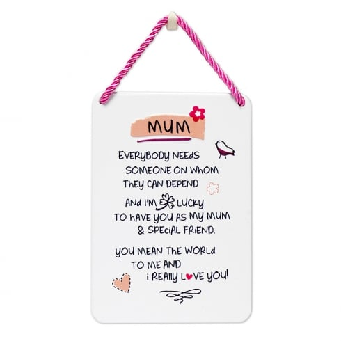 WPL Tin Plaque Mum