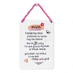 Tin Plaque Mum