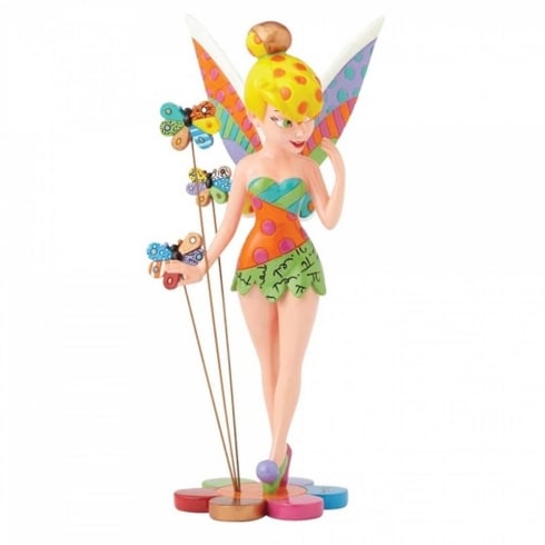 Disney By Britto Tinker Bell on Flower Figurine