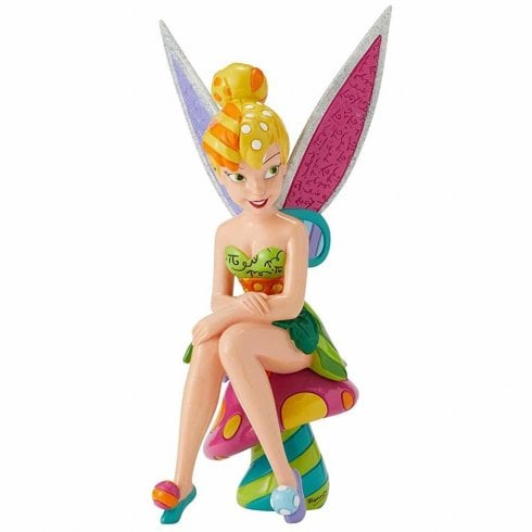 Disney By Britto Tinker Bell On Mushroom Figurine