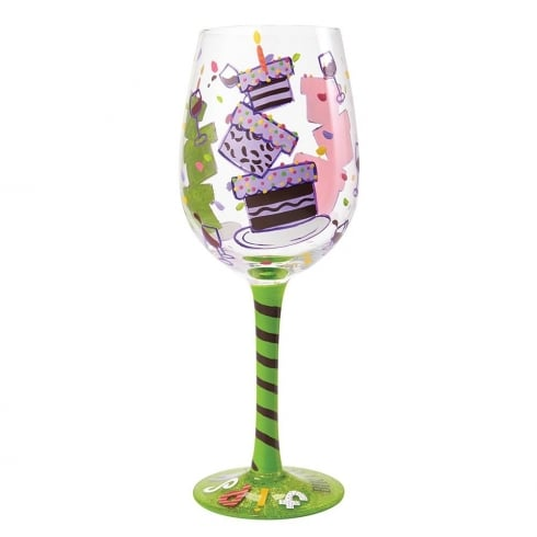 Lolita Tipsy Birthday Wine Glass