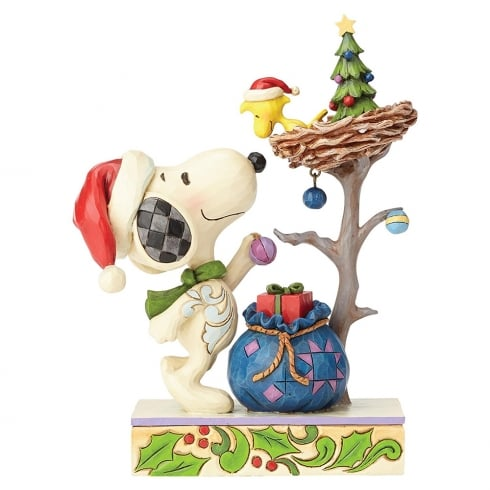 Snoopy And Woodstock Christmas.Jim Shore Tis The Season Snoopy Woodstock Christmas