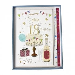 To A Fantastic Son On Your 18th Birthday Boxed Large Card