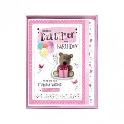 To A Wonderful Daughter On Her Birthday Boxed Large Bear With Present Card