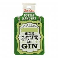 Top Lass Bottle Hangers Blank Gin Love and Gin