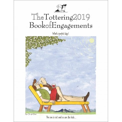 Tottering Book of Engagements Deluxe A5 Diary 2019