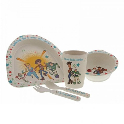 Disney Enchanting Collection Toy Story 4 Bamboo Dinner Set