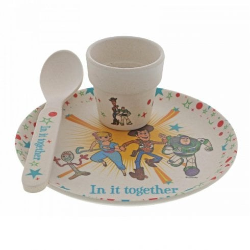 Disney Enchanting Collection Toy Story 4 Bamboo Egg Cup Set