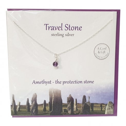 The Silver Studio Travel Stone Amethyst Pendant