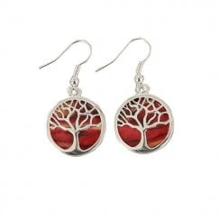 Tree Of Life Plated Earrings