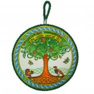 Tree Of Life Ring Rope Plaque/Pot Stand