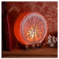 Tree Pattern Salt Lamp