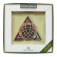 Trinity Knot Bronze Plated Wall Plaque