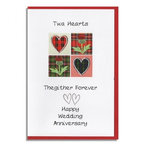 Embroidered Originals Twa Hearts Thegither Forever Wedding Anniversary