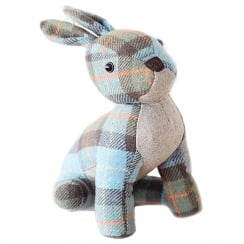 Tweed Rabbit Door Stopper Green