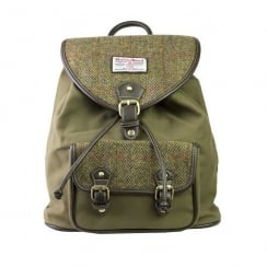 Tweed Rucksack Khaki Green