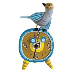 Tweets Bird Standing Clock