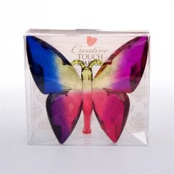 Twilight Coloured Solid Plastic Crystal Effect Butterfly Ornament