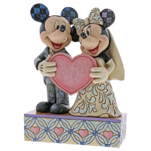 Disney Traditions Two Souls One Heart Mickey & Minnie Wedding