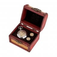 Two Tone Thistle Pocket Watch and Cufflinks in Trunk