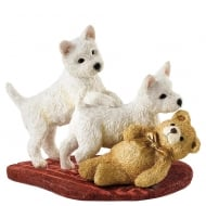 Twos Trouble Westie Pups Figurine