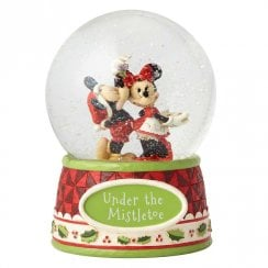 Under the Mistletoe Mickey & Minnie Waterball