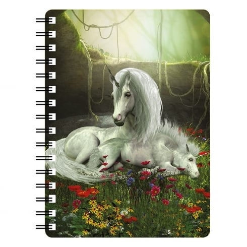 Faithful Friends Collectables Unicorn Mare & Foal Enchanted Garden 3D Notebook