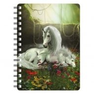 Unicorn Mare & Foal Enchanted Garden 3D Notebook
