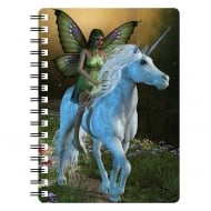 Unicorn With Fairy 3D Notebook