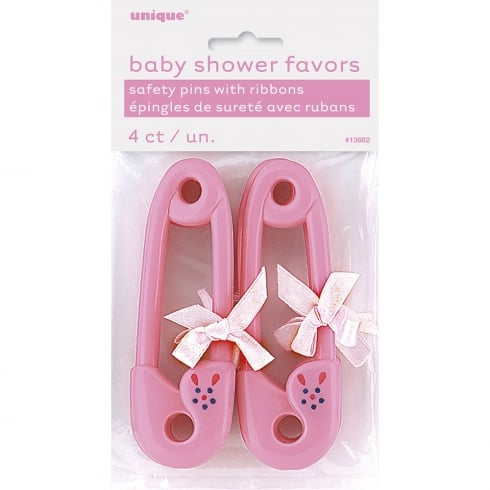 Unique Party UK Unique Glitz Pink Safety Pin baby shower favors