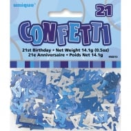 Unique Party UK Blue Glitz 21st Birthday Confetti 14.1g (0.5oz)