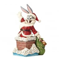 Up On The Roof Top Bugs Bunny Christmas Figurine